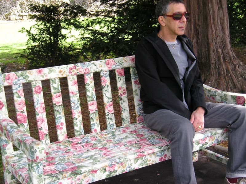 Anatol on a bench